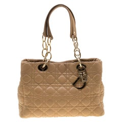 Dior Beige Cannage Leather Dior Soft Shopping Tote