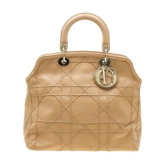 Dior Beige Cannage Leather Granville Tote