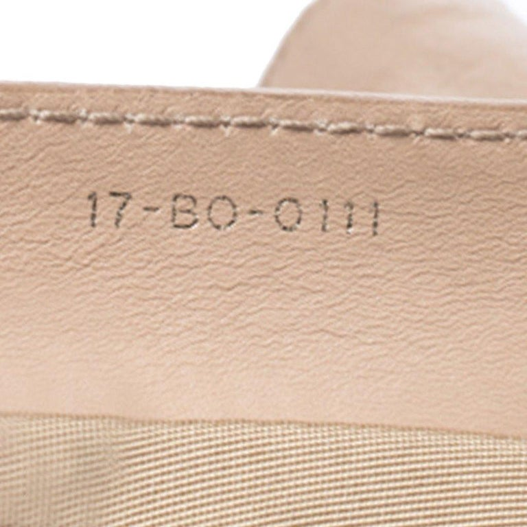 Dior Beige Cannage Leather Le Trente Tote For Sale 4