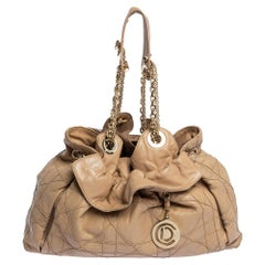Dior Beige Cannage Leather Le Trente Tote