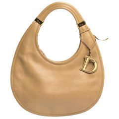 Dior Beige Leather Diorita Hobo
