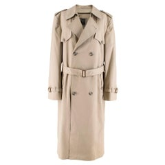 Dior Beige Longline Trench Coat	SIZE 40