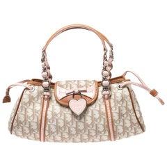 Dior Beige Monogram Coated Canvas Romantique Trotter Flap Bag