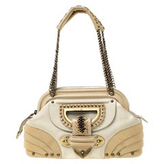 Dior Beige Nubuck Leather Jeanne Small Frame Satchel