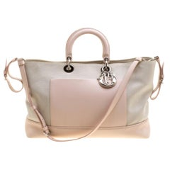 Dior Beige/Pink Canvas and Leather Nappy Diaper Bag