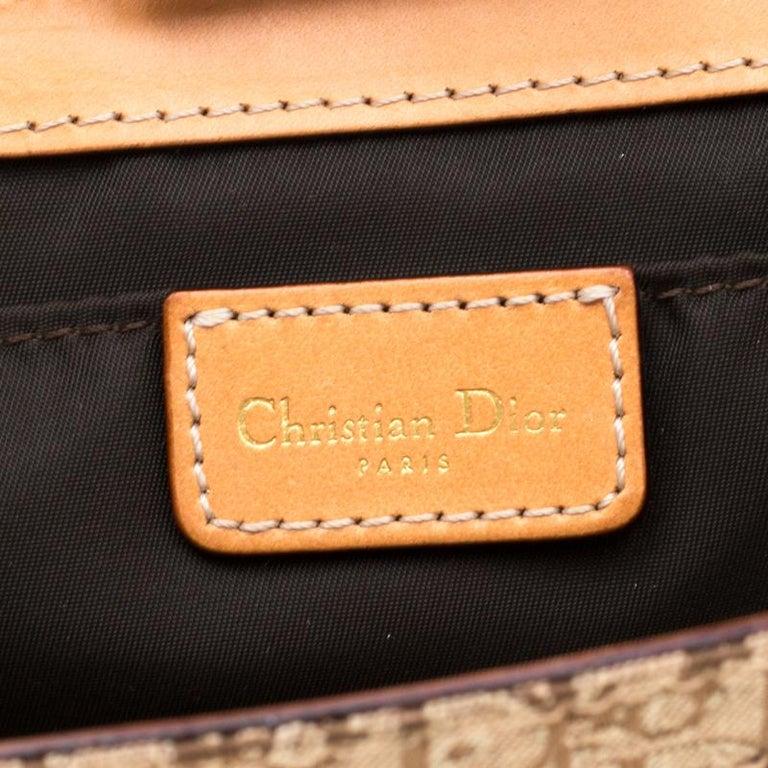 Dior Beige/Tan Oblique Canvas and Leather Street Chic Shoulder Bag 6