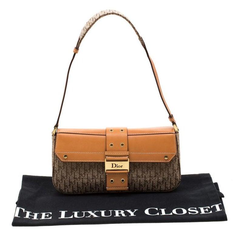 Dior Beige/Tan Oblique Canvas and Leather Street Chic Shoulder Bag 7