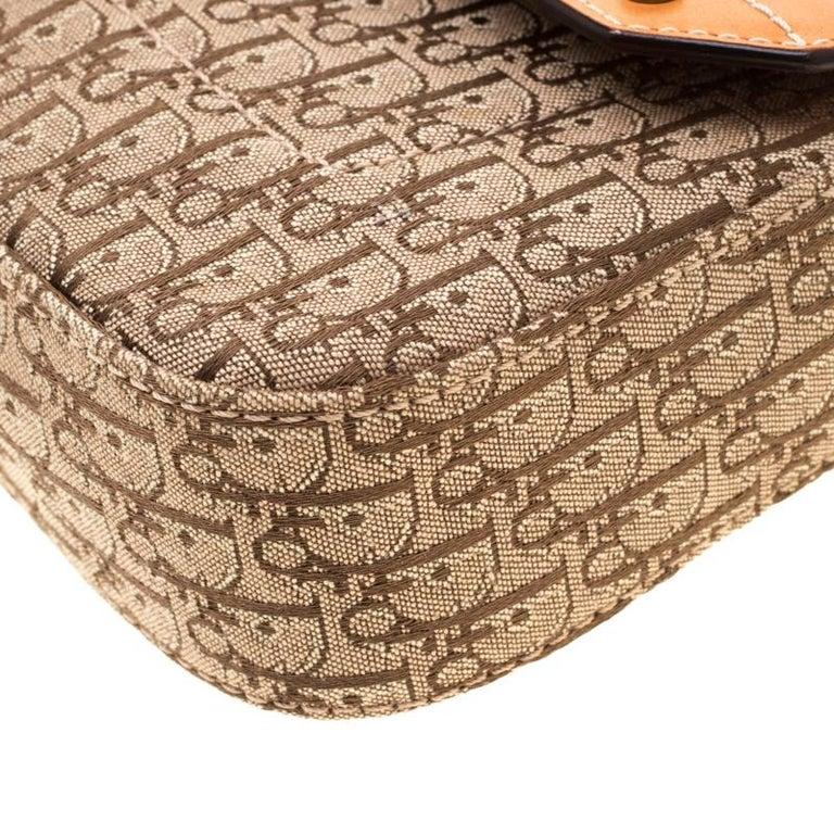 Dior Beige/Tan Oblique Canvas and Leather Street Chic Shoulder Bag 1