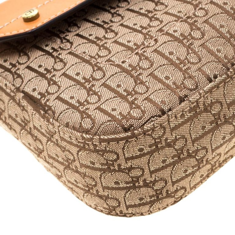 Dior Beige/Tan Oblique Canvas and Leather Street Chic Shoulder Bag 2