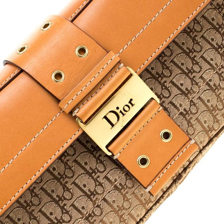 Dior Beige/Tan Oblique Canvas and Leather Street Chic Shoulder Bag 3