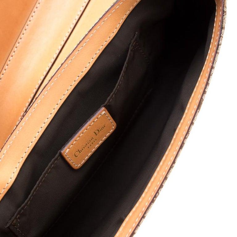 Dior Beige/Tan Oblique Canvas and Leather Street Chic Shoulder Bag 4