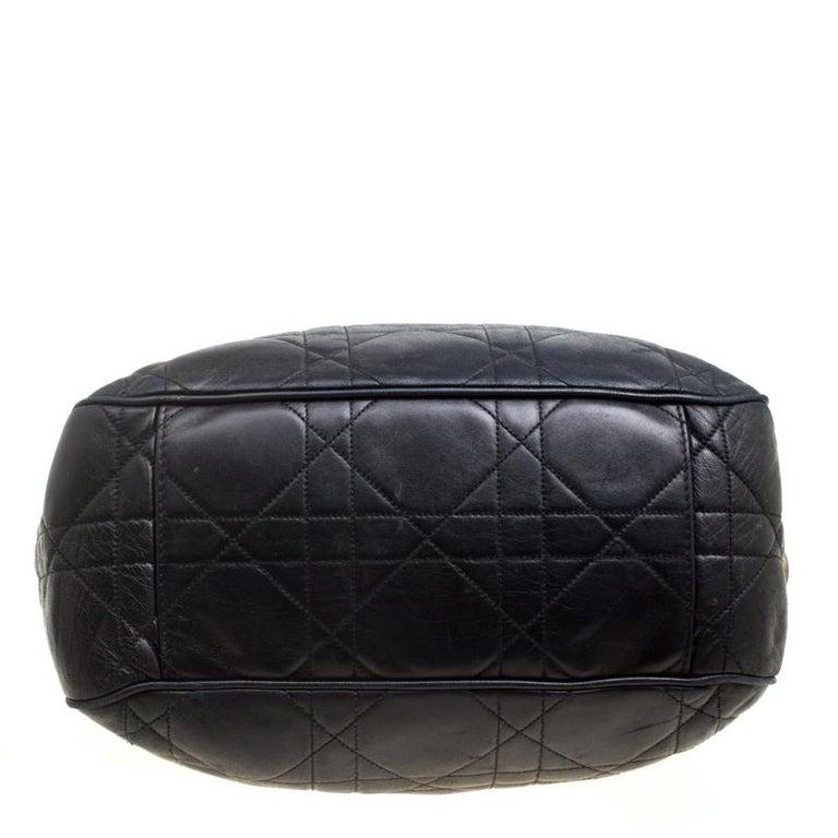 7f33283107d0 Dior Black Cannage Leather Bucket Shoulder Bag For Sale at 1stdibs