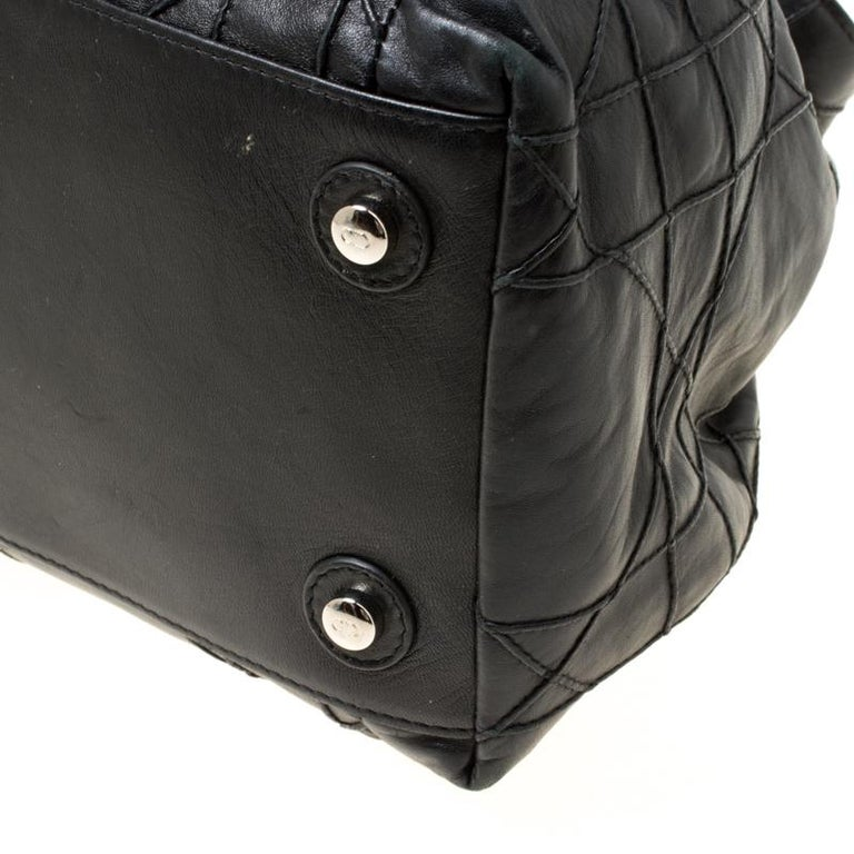 Dior Black Cannage Leather Le Trente Hobo For Sale 3
