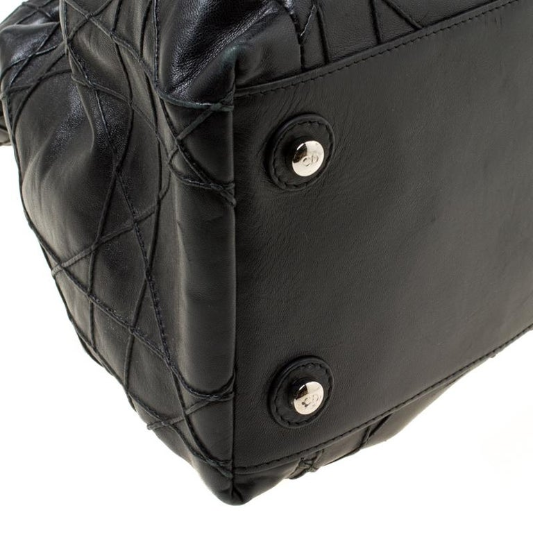 Dior Black Cannage Leather Le Trente Hobo For Sale 4