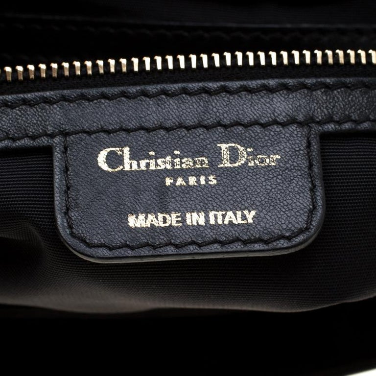 Dior Black Cannage Leather New Lock Flap Bag For Sale 1