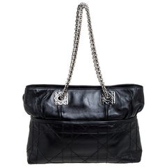 Dior Black Cannage Leather So Dior Tote