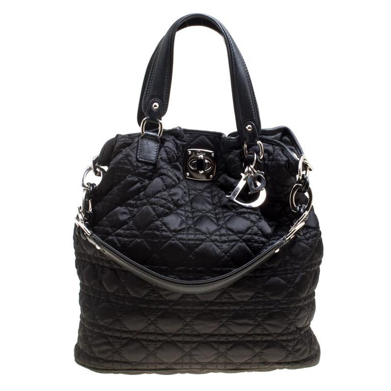 fa447cfcd3d Dior Black Cannage Nylon Tote For Sale at 1stdibs