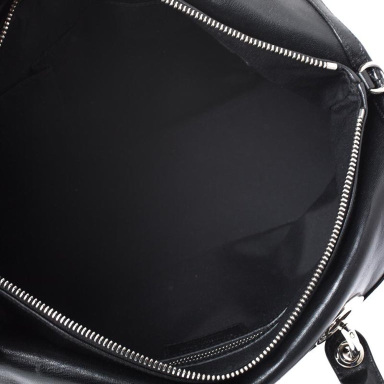 Dior Black Cannage Quilted Leather Granville Tote For Sale 6