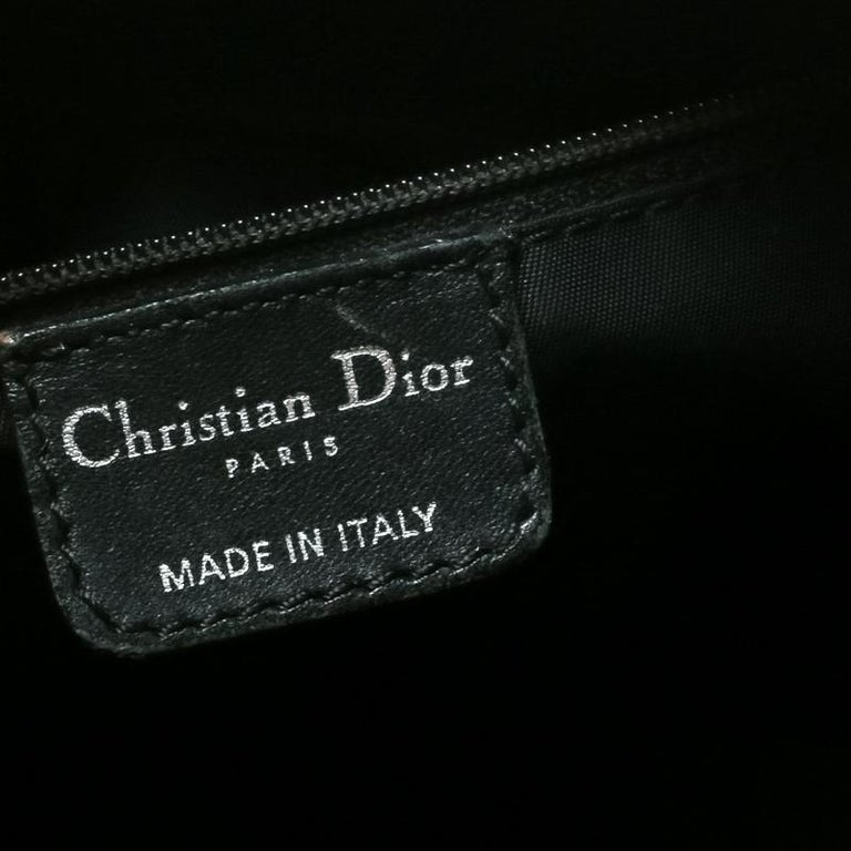 Dior Black Diorissimo Canvas and Leather Hobo For Sale 2
