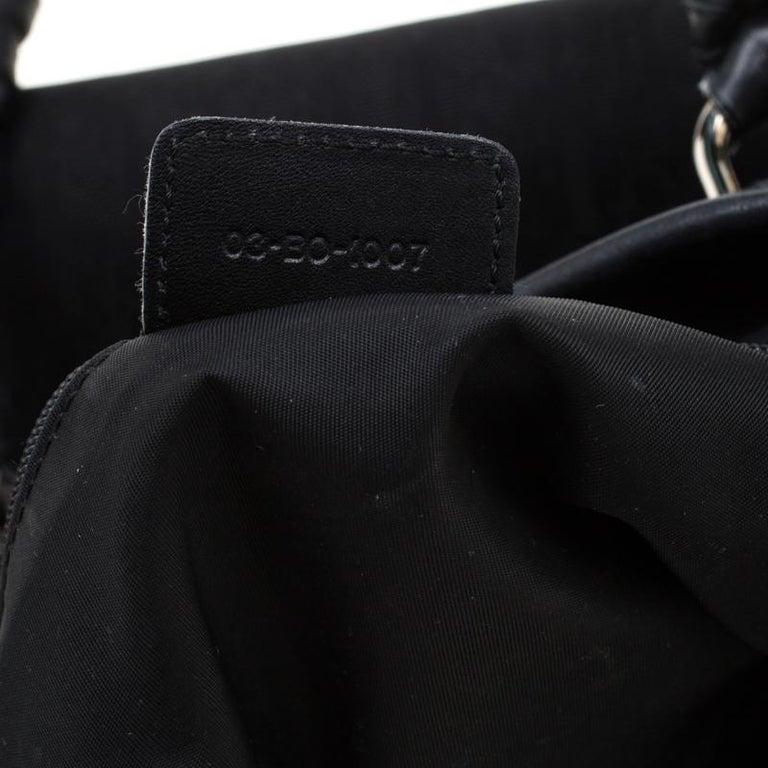 Dior Black Diorissimo Canvas Charming Satchel 7