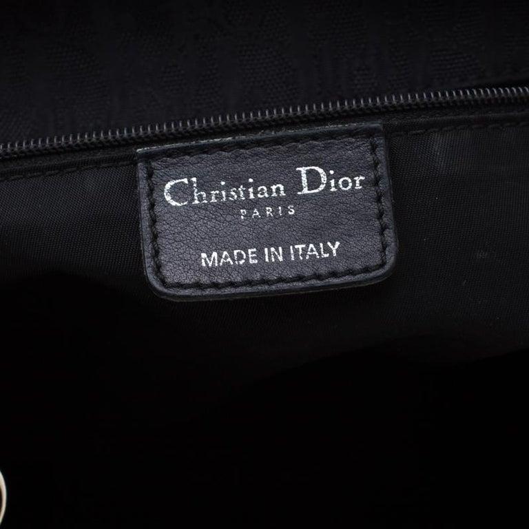 Dior Black Diorissimo Canvas Charming Satchel 2