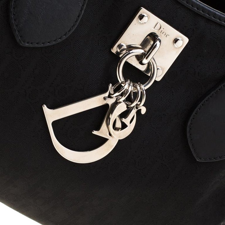 Dior Black Diorissimo Canvas Charming Satchel 4