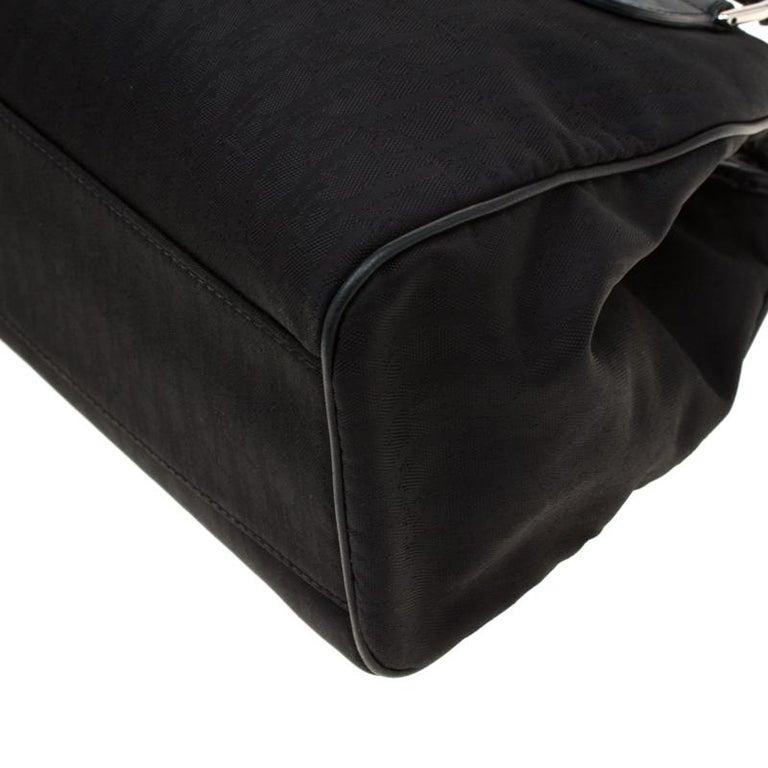 Dior Black Diorissimo Canvas Charming Satchel 5