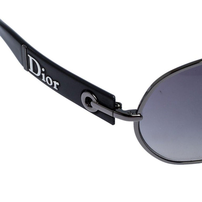 Women's Dior Black Gradient Logo 2 Sunglasses For Sale