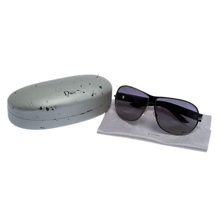 Dior Black Gradient Logo 2 Sunglasses For Sale 3