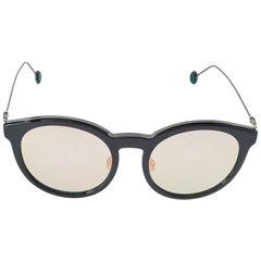 Dior Black/Green & Pink Mirrored ANS0J Dior Blossom Round Sunglasses