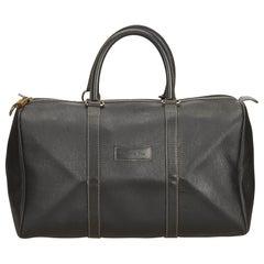 Dior Black Honeycomb Leather Duffle Bag