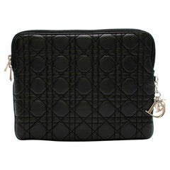 Dior Black Lady Dior Cannage Tech Pouch 26cm