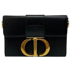 Dior Black Leather 30 Montaigne Bag