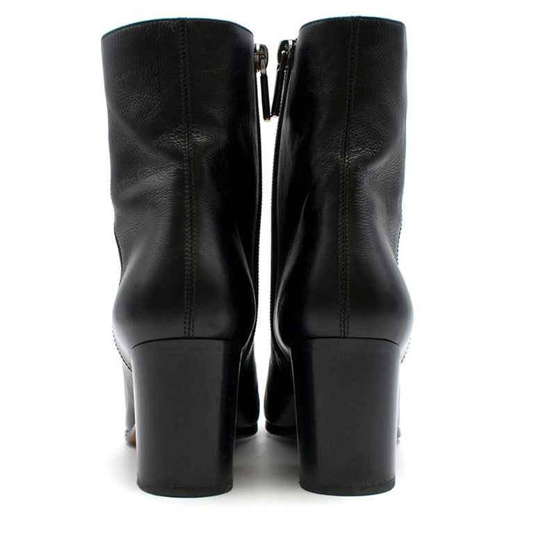 Dior black leather ankle boots SIZE 36 In Good Condition For Sale In London, GB
