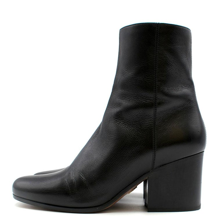 Women's Dior black leather ankle boots SIZE 36 For Sale