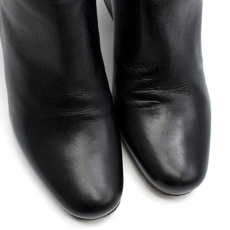 Dior black leather ankle boots SIZE 36 For Sale 1