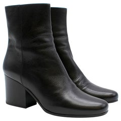 Dior black leather ankle boots SIZE 36