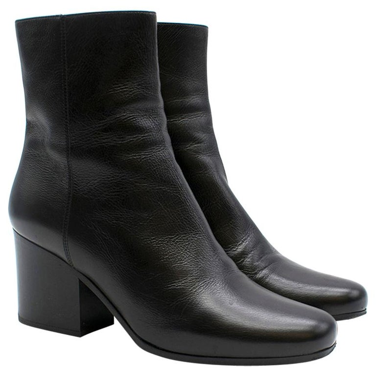Dior black leather ankle boots SIZE 36 For Sale