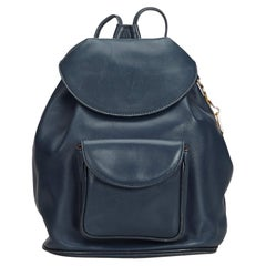 Dior Black  Leather Backpack France w/ Dust Bag