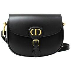 Dior Black Leather Bobby Medium Bag