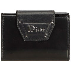Dior Black  Leather Business Card Holder France