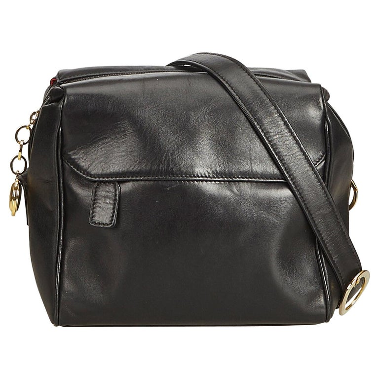 71dd69cea5 Dior Black Leather Crossbody Bag at 1stdibs