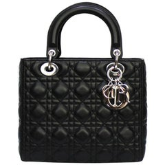 Dior Black Leather Dior Bag