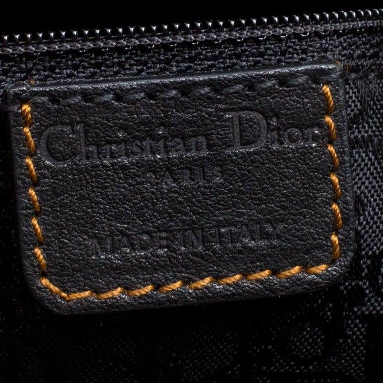 Dior Black Leather Gaucho Shoulder Bag For Sale 3