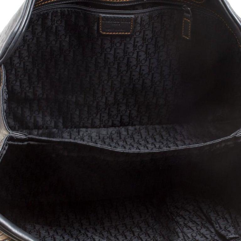 Dior Black Leather Gaucho Shoulder Bag For Sale 4