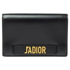 Dior Black Leather J'adior Wallet on Chain