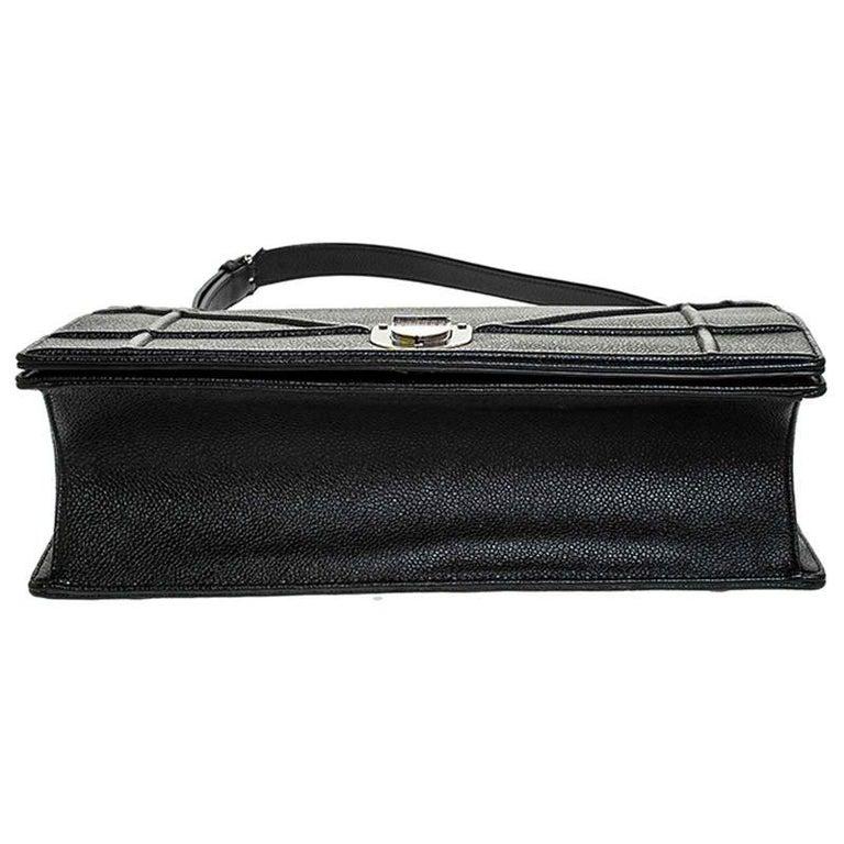 Dior Black Leather Large Diorama Flap Shoulder Bag For Sale 1