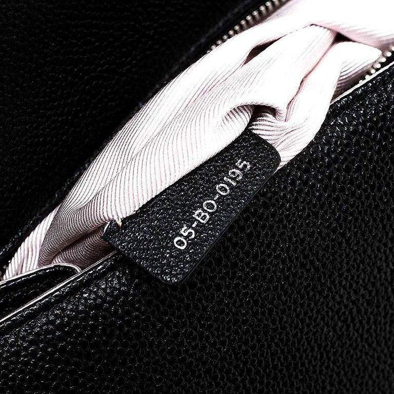 Dior Black Leather Large Diorama Flap Shoulder Bag For Sale 2