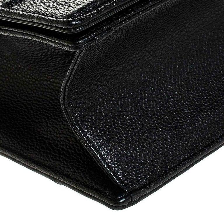 Dior Black Leather Large Diorama Flap Shoulder Bag For Sale 4