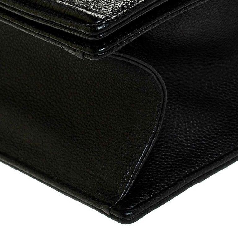 Dior Black Leather Large Diorama Flap Shoulder Bag For Sale 5